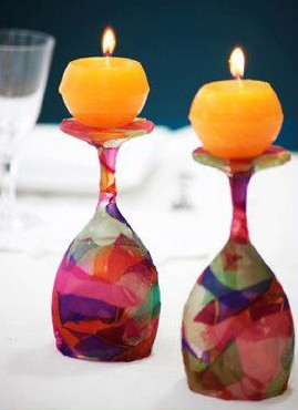 Christmas Wine Glass Candle Holders Ideas