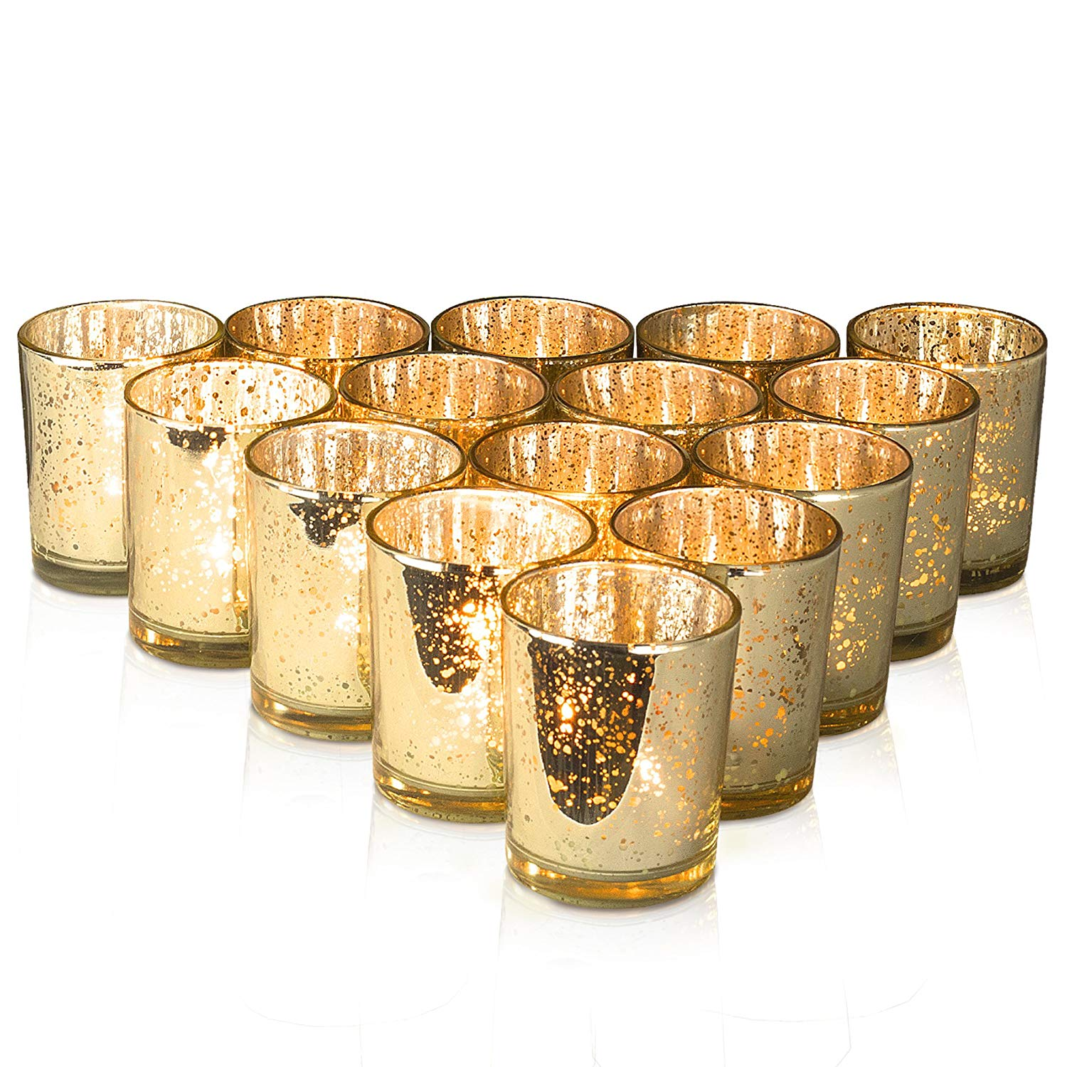 CD055 Gold Candle Holders For Wedding