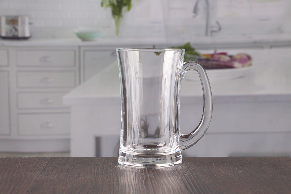 13oz wide mouth beer glass with handle wholesale. Black Bedroom Furniture Sets. Home Design Ideas