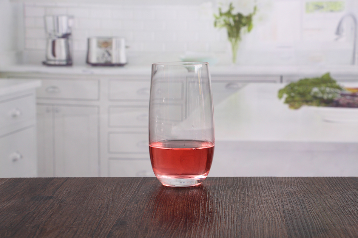 Glass water glasses