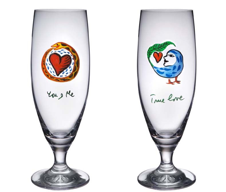 personalized hand painted wine glasses