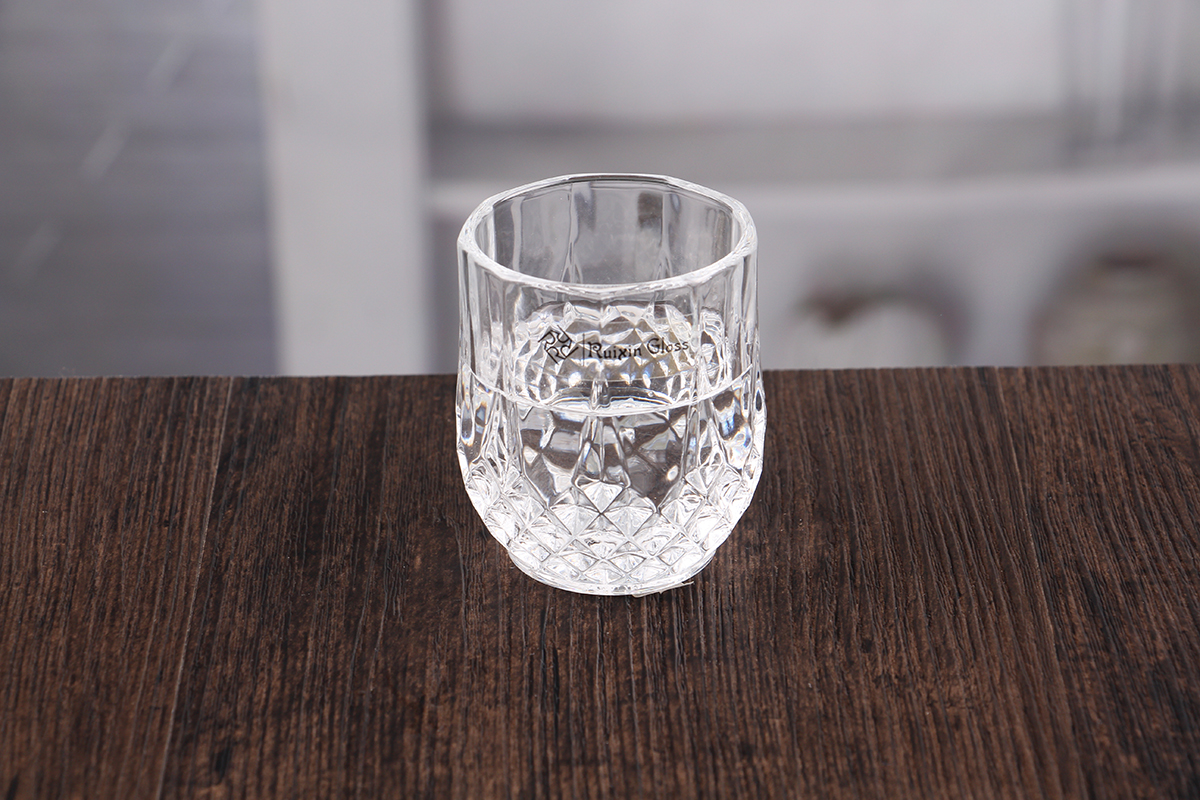 polygonal personalized shot glasses