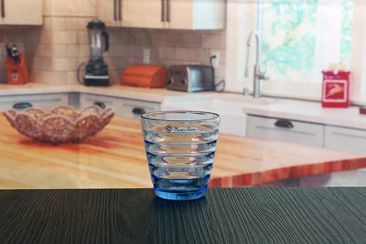 Blue Glasses Drinking Cup