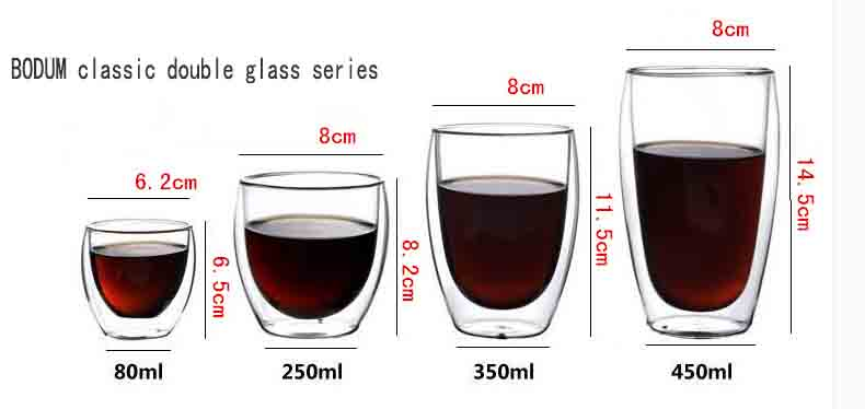 double wall coffee glasses