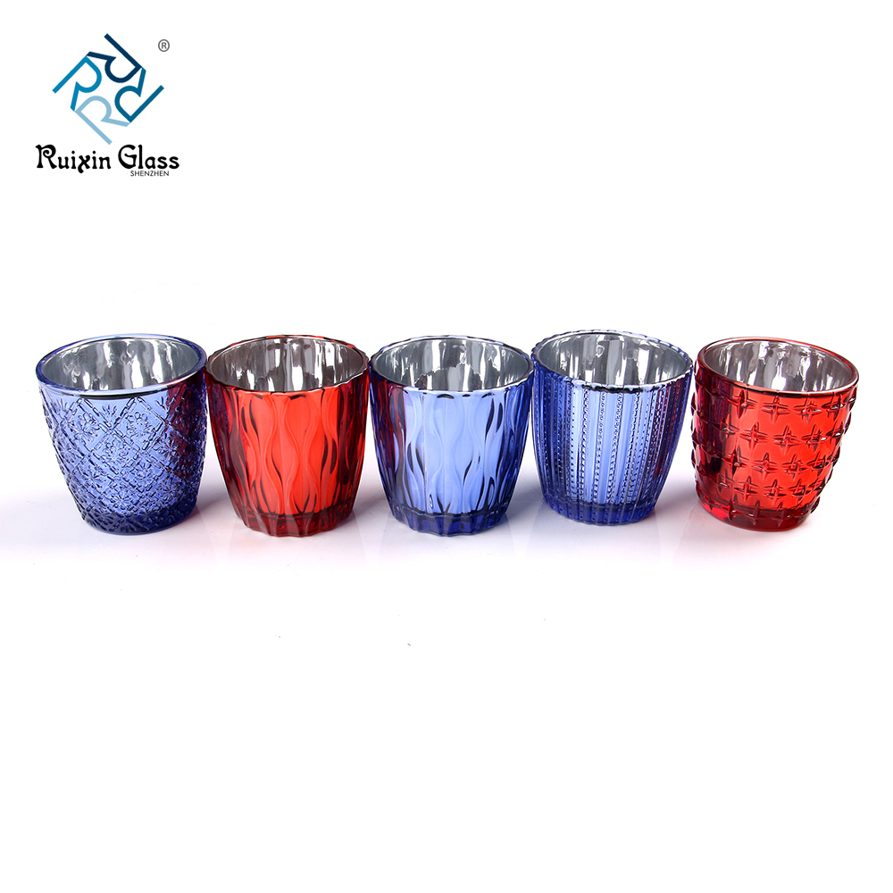 wholesale colored glass candle holders
