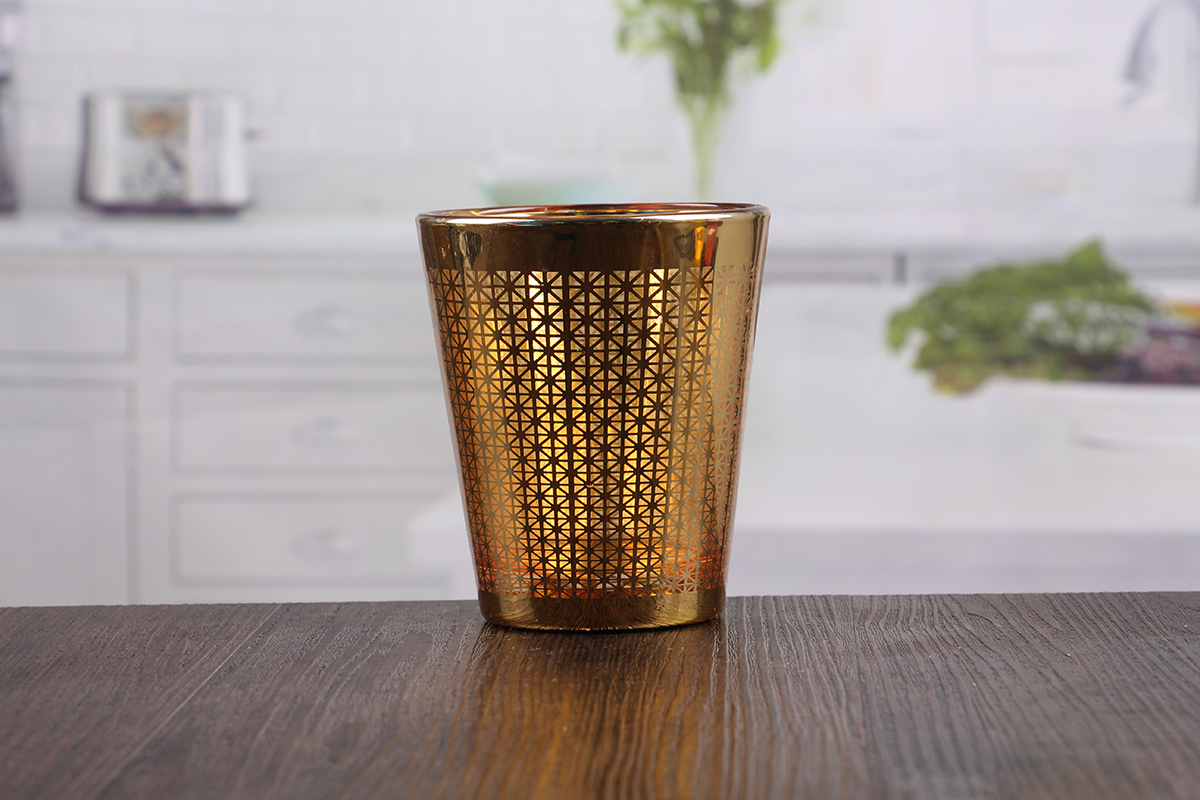 Golden candle holder