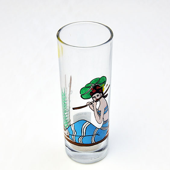 hand painted drinking glass