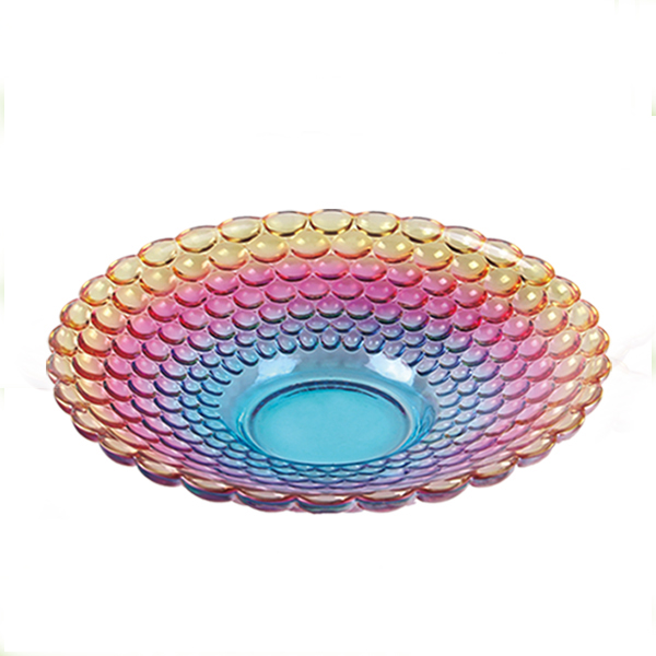 colorful  glass fruit plate