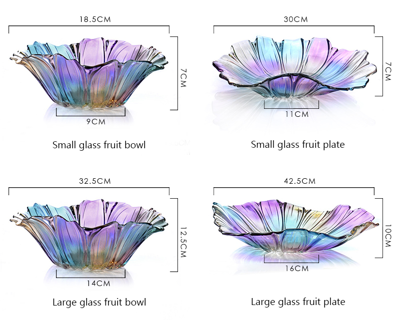 crystal glass fruit bowl