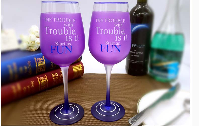 painted personalized wine glasses