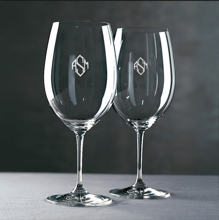 Decal Glass Goblets