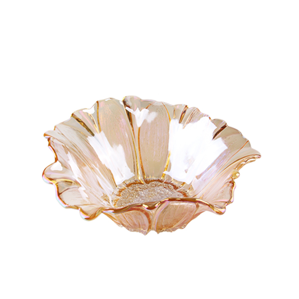 Sunflower Shaped Glass Fruit Plate