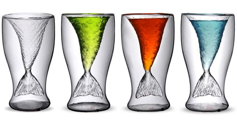 double walled red wine glass