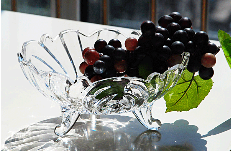 glass fruit dish