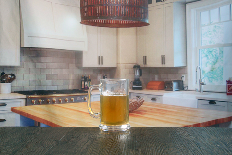 Beer Tankard Glass With Handle