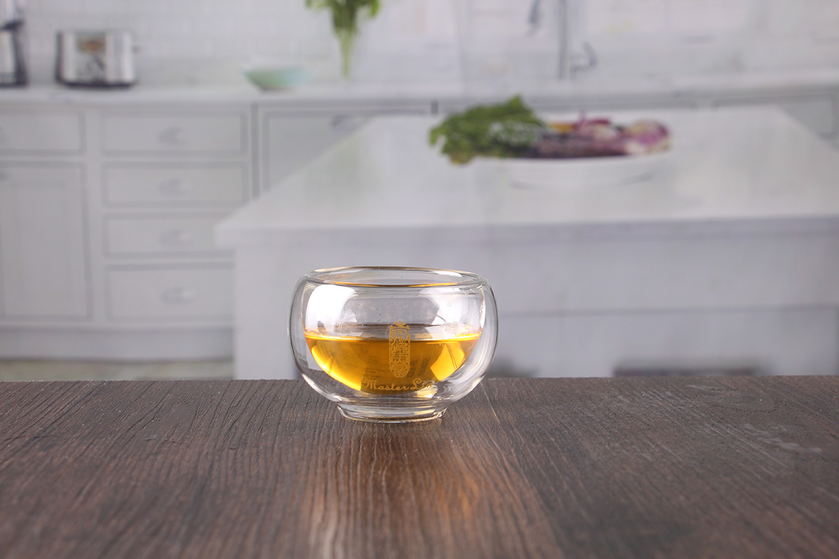 small double glass cup