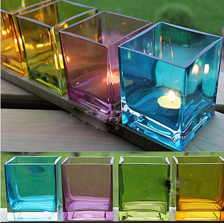 clear glass votive candle holders