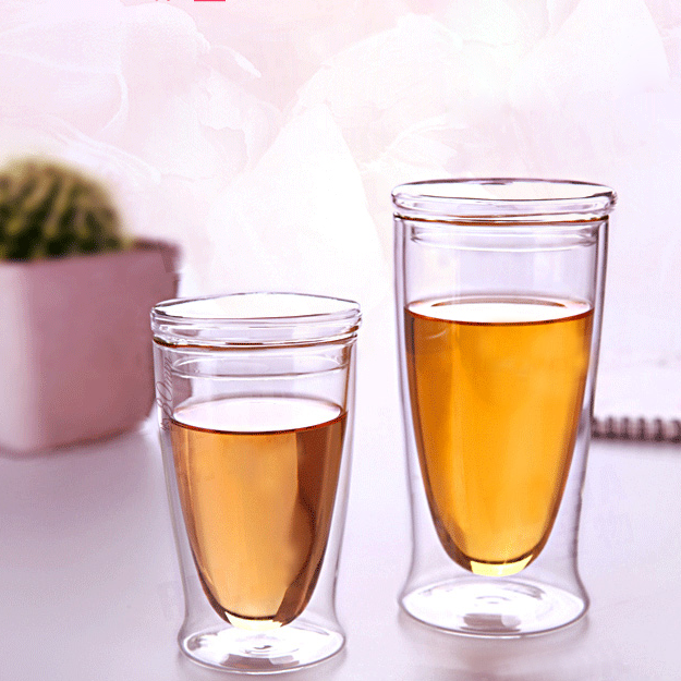 double wall glass tea cup