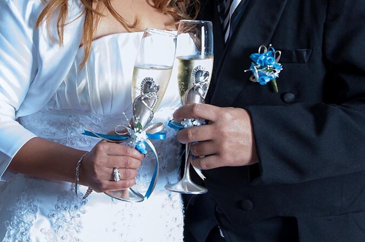 Toasting Flutes Wedding