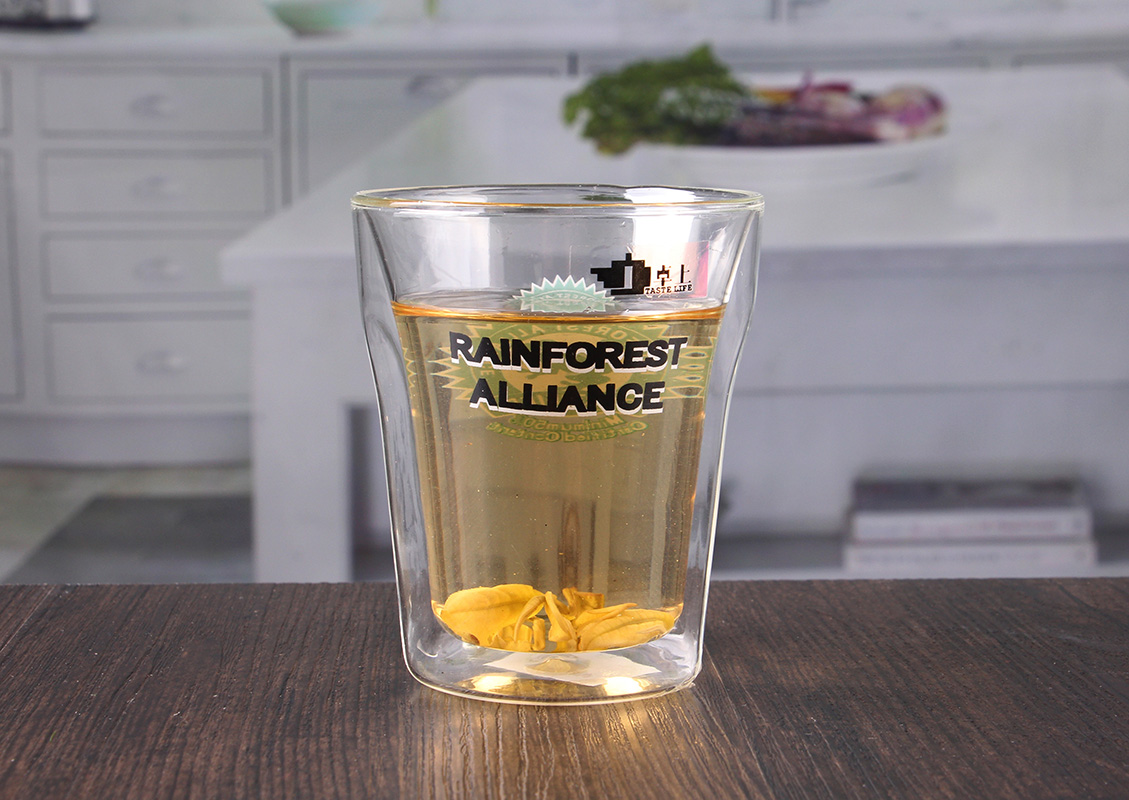 double wall glasses with logo