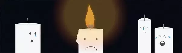 What happens to candle wax as the candle burns?