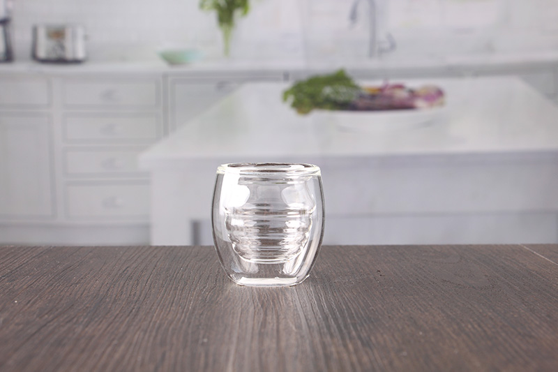 Double glass tea cup