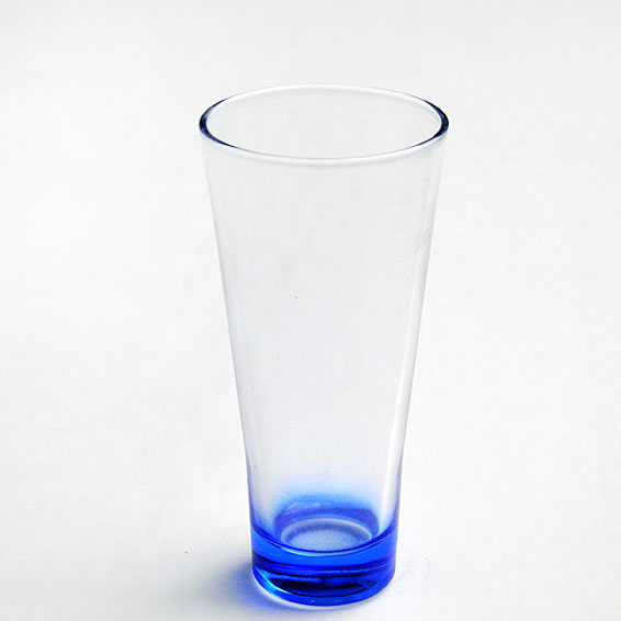 Colored glass cup