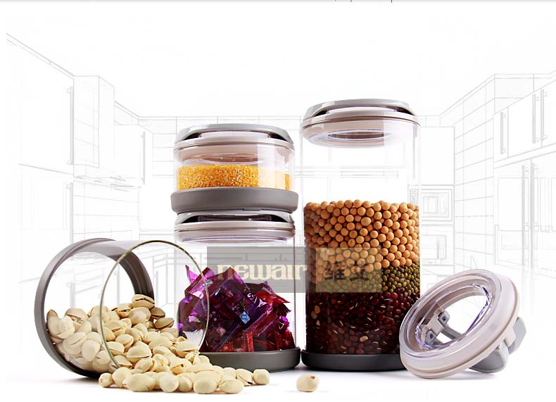 small glass canisters