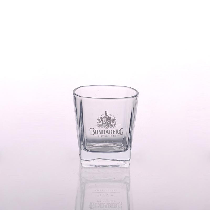 whiskey glasses with logo