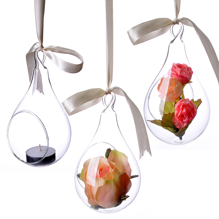 2016 New Suspension Hanging Glass Vase Supplier Small