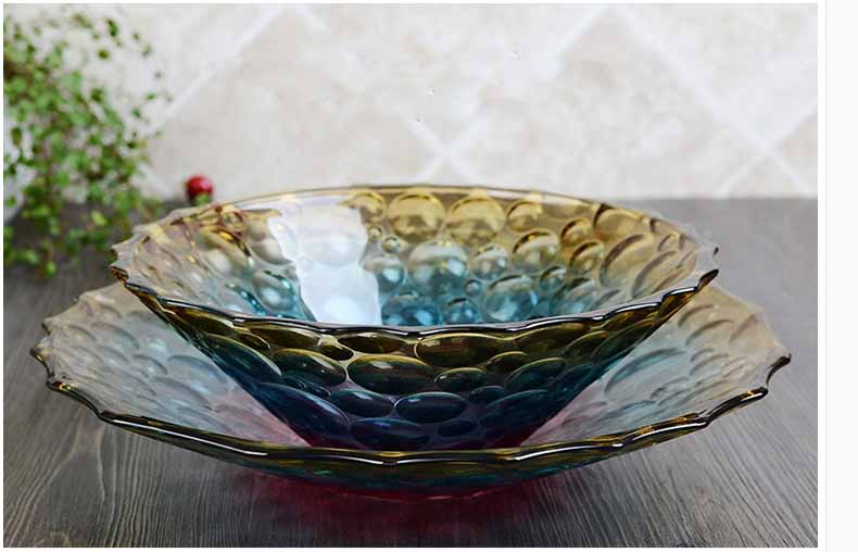 Glass fruit bowl set,glass plate and glass fruit bowls wholesale