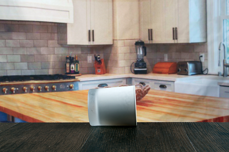 Small glass cylinder candle holder