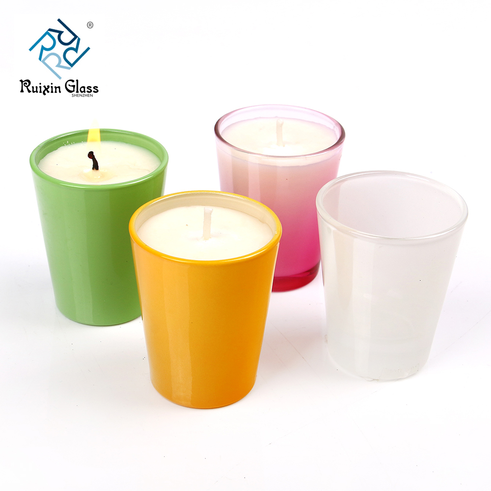 Chinese factory wholesale colored glass candle holders