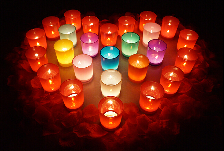 How can I decorate my room with tealight candle holders?