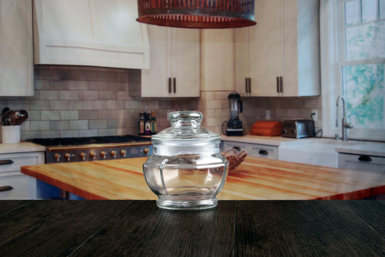 Octagon glass storage jars