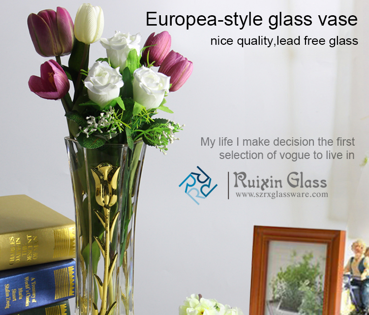 New mercury glass vases and tulip electroplating glass vase