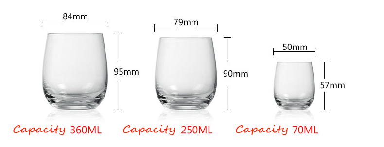Glass drinking cups