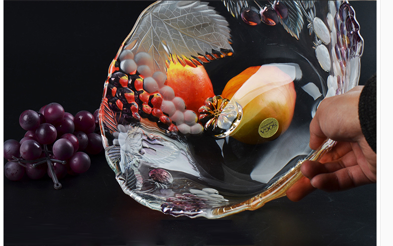 glass fruit bowl
