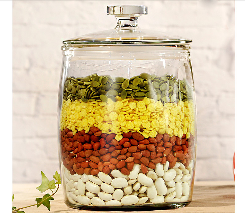 Large storage glass jars