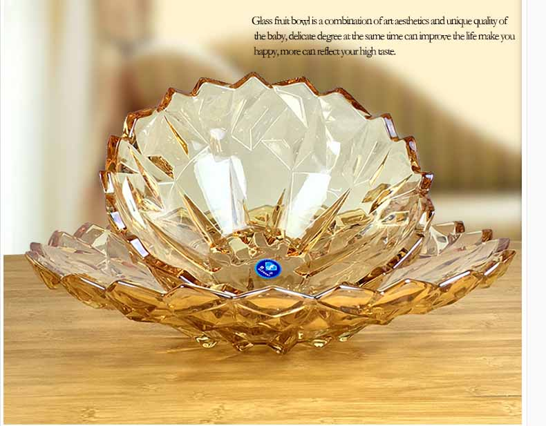 Modern personalized crystal glass fruit bowl supplier