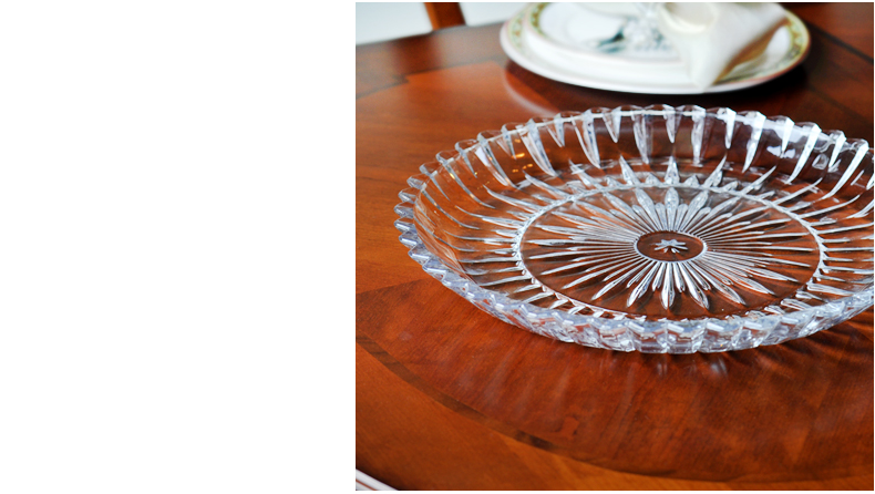 2016 China most popular glass fruit plate,crystal glass bowls wholesale