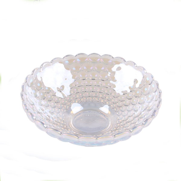 transparent  glass fruit plate