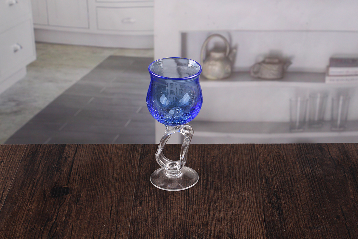 Crack Wine Glass Candle Holder