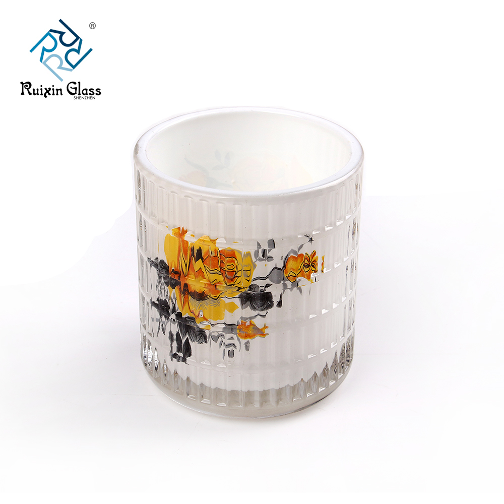 Chinese factory wholesale glass flower candle holder