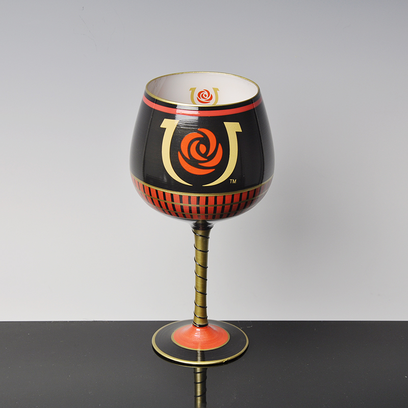 creative hand painted wine glass cup