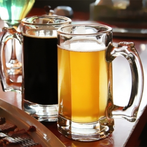 1000ml big capacity glass beer mugs supplier