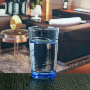 200ml 7oz blue unique drinking glasses colored glass water cup