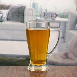 23 oz bulk beer glasses pint mug with handle wholesale