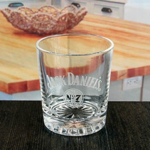 350 ml quality etched whiskey drinking glass set
