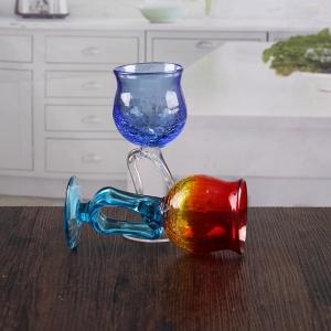 beau bleu crack bougeoir en verre de vin en gros. Black Bedroom Furniture Sets. Home Design Ideas